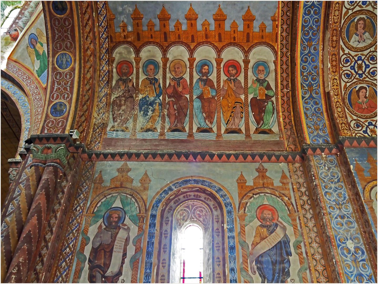 Peintures du plafond du choeur de l'Eglise Saint-Nicolas de Civray