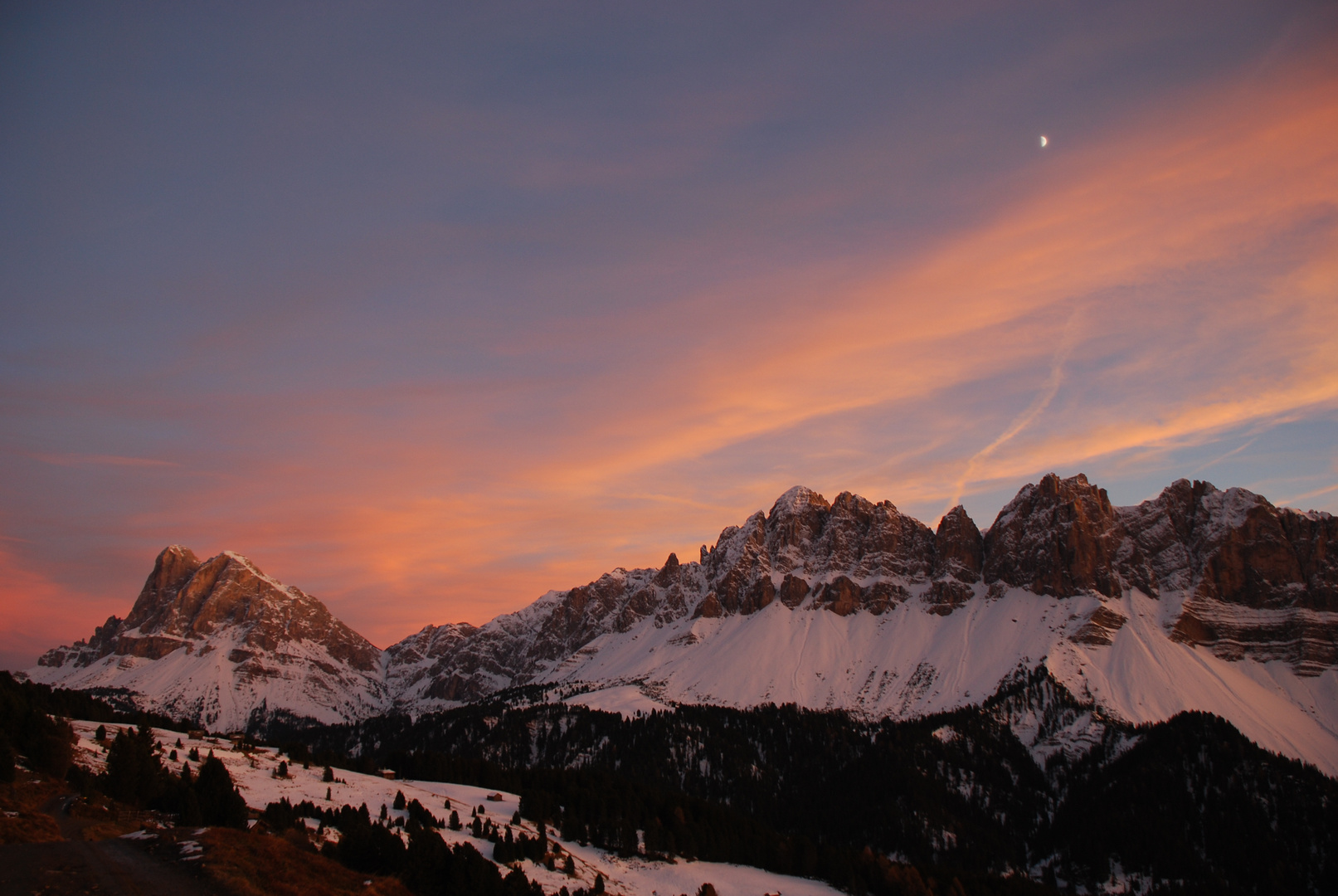 Peitlerkofel und Aferer Geiseln, Dolomiten, Südtirol