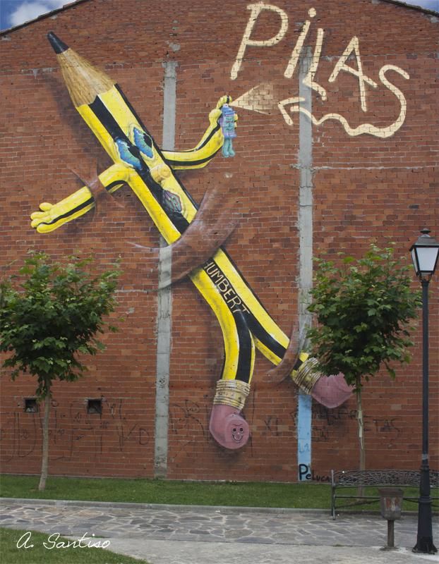 Pencil graffiti