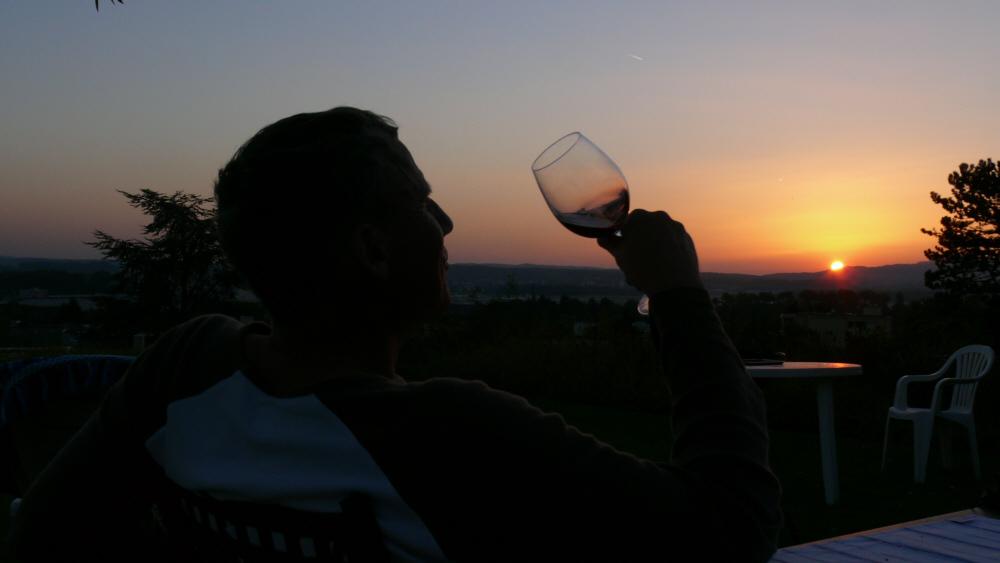 Penfolds Grange at the sunset