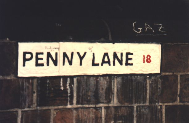 Penny-Lane in Liverpool