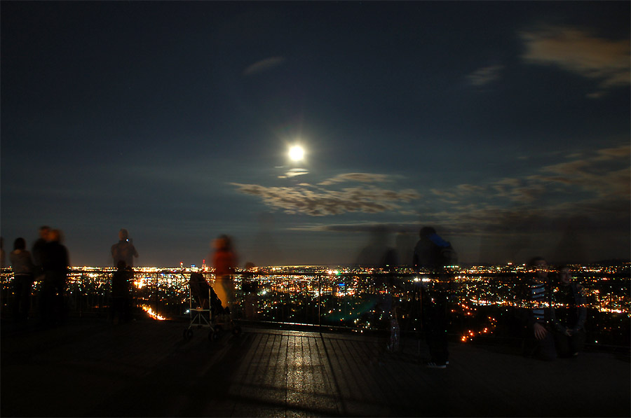 people and moon