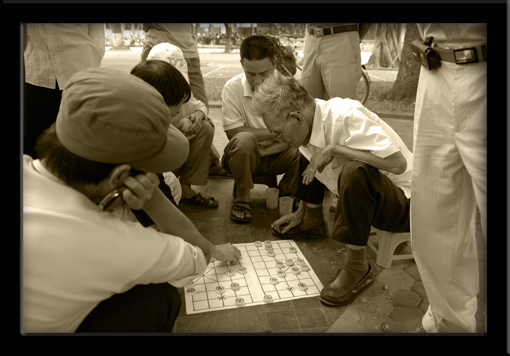 People of Vietnam - Chinese chess in park