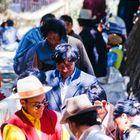 People ; walking throught lhasa