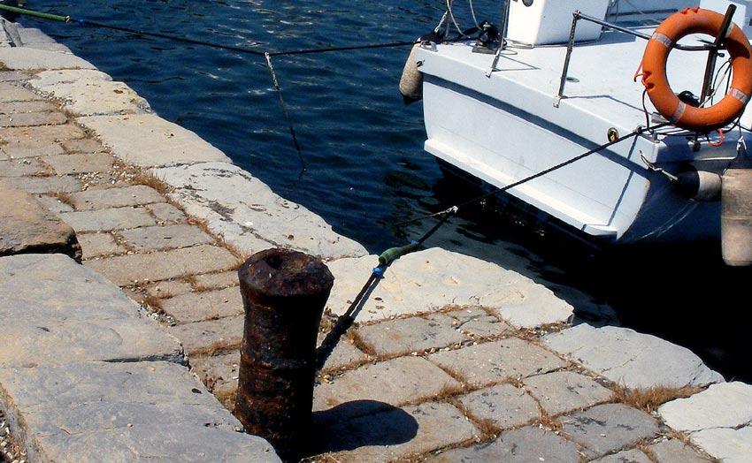 Per bitta cannone del XVI sec. Porto antico-Ge