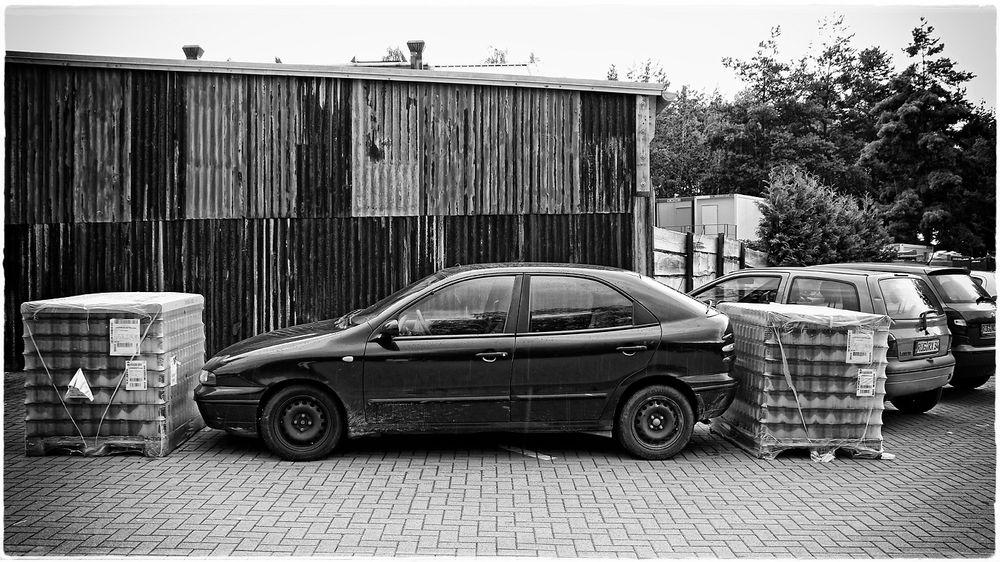 Perfekt eingeparkt...