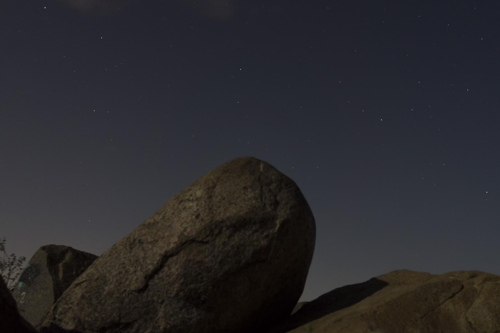 Perseidenmaximum 2014 ohne Sternschnuppen (Himmel und Vordergrund)