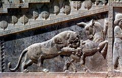 Persepolis, am Treppenaufgang, Relief