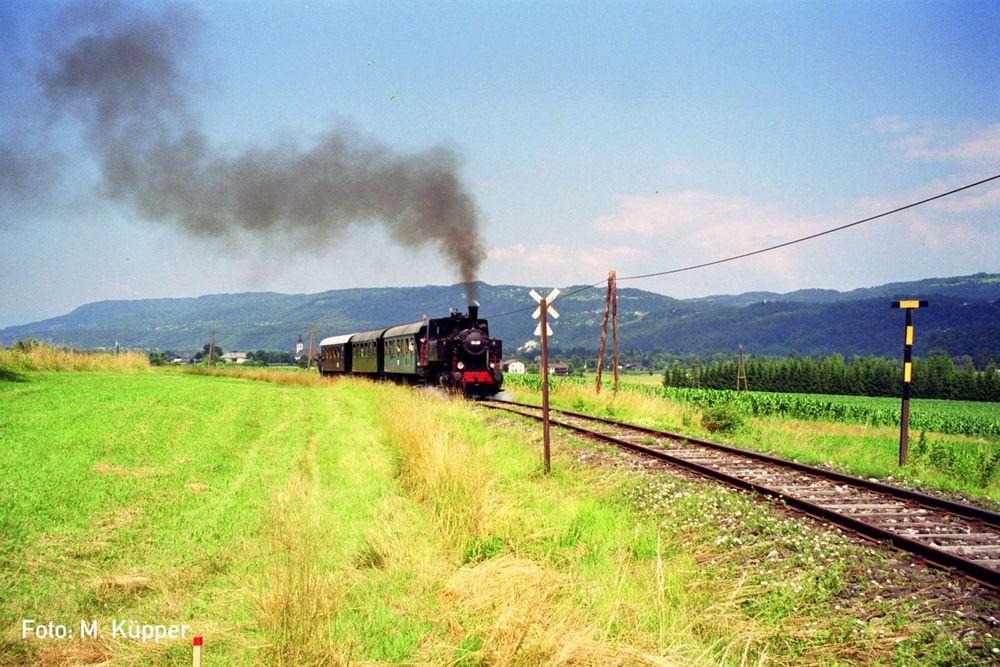 Personenzug von Ferlach nach Weizelsdorf