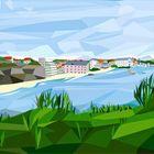 perspetive Biarritz en low poly