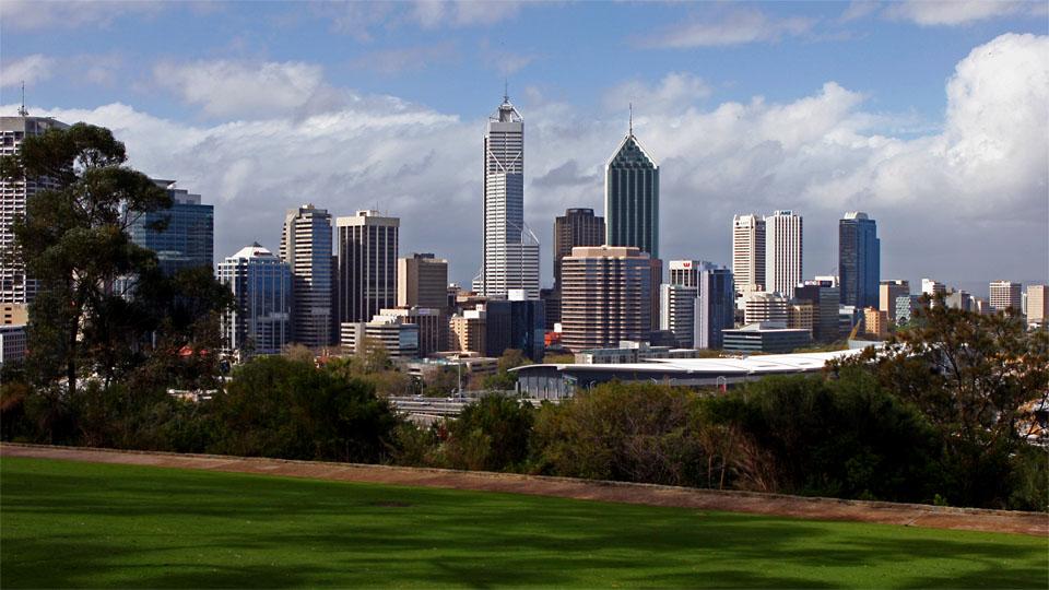 Perth CBD from Kings Park, Perth, WA / AU