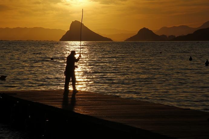Pescando con el Sol