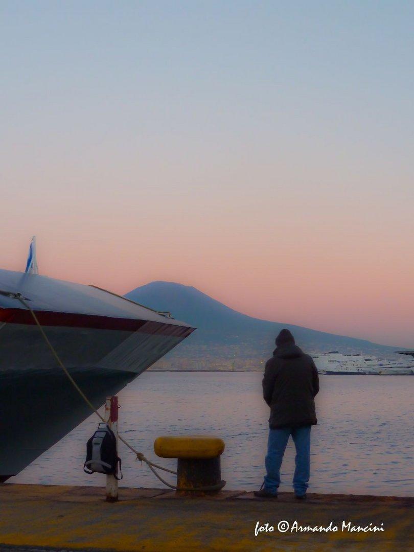 Pescatore al crepuscolo