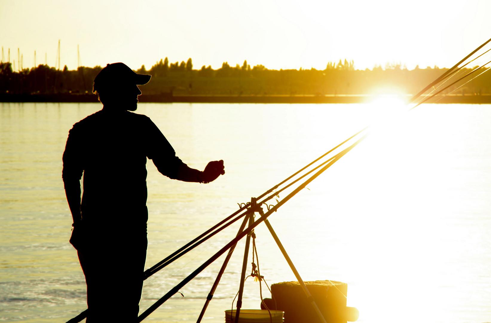 Pescatore nel mare di luce