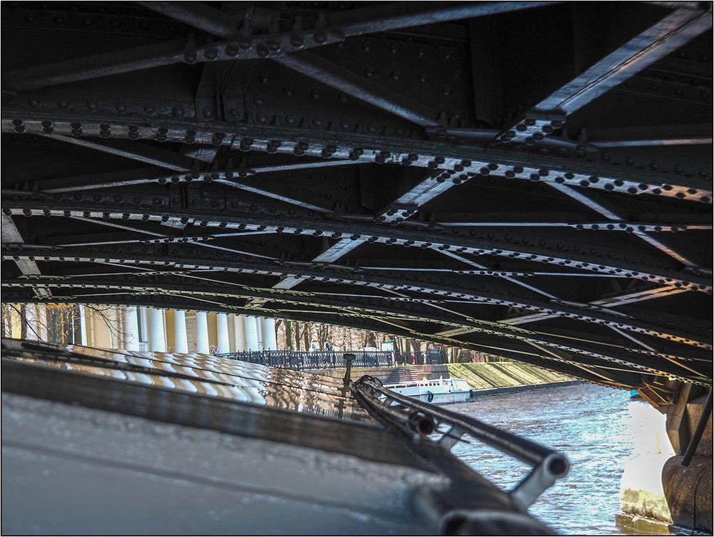 Petersburger Impressionen 18 unter der Brücke