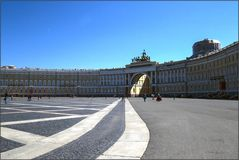 Petersburger Impressionen 28 Palastplatz
