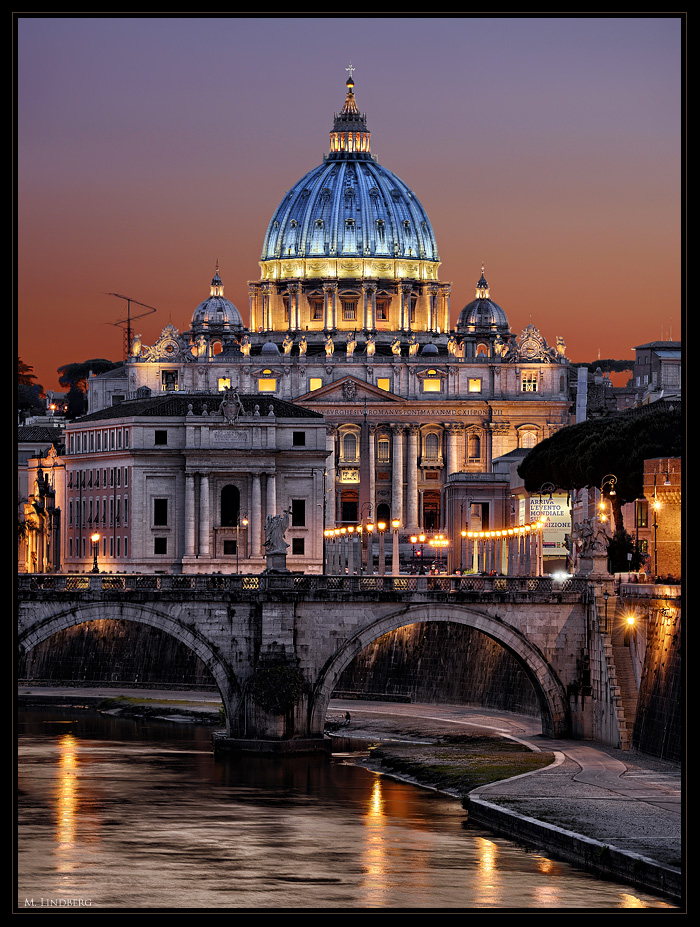 Petersdom über dem Tiber, Rom