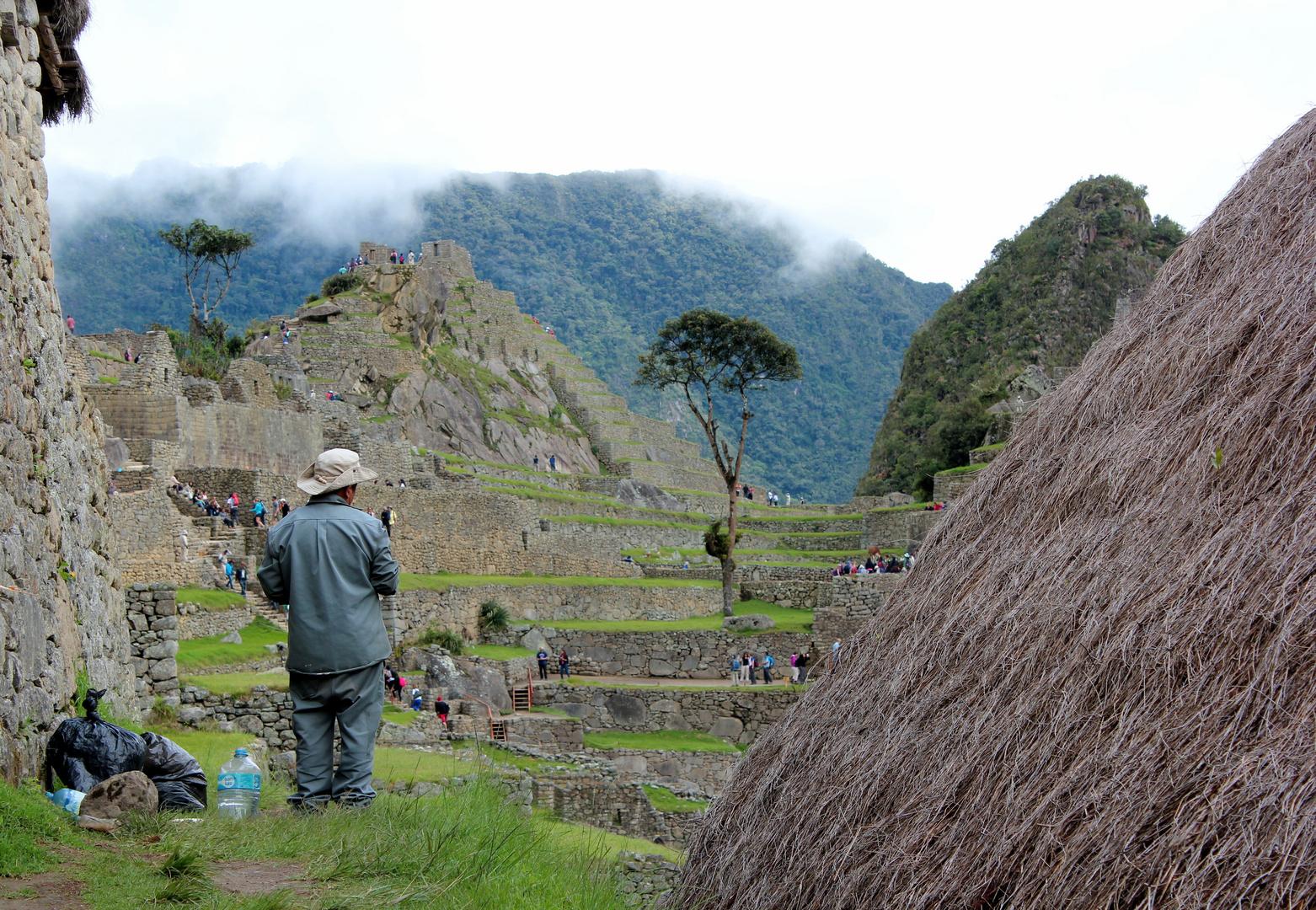 Petite pause au Macchu Picchu