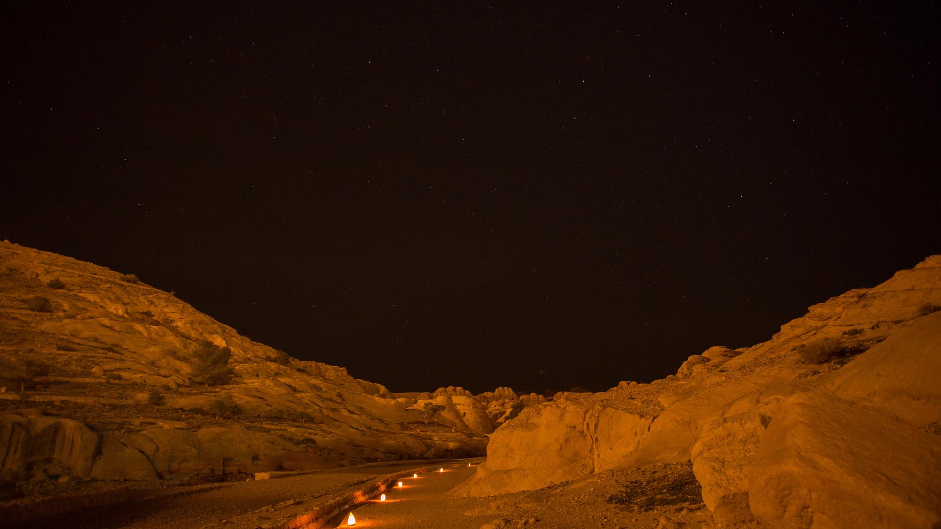 Petra bei Nacht 1