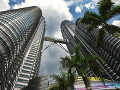 Petronas Towers aus der Fußgänger- Perspektive