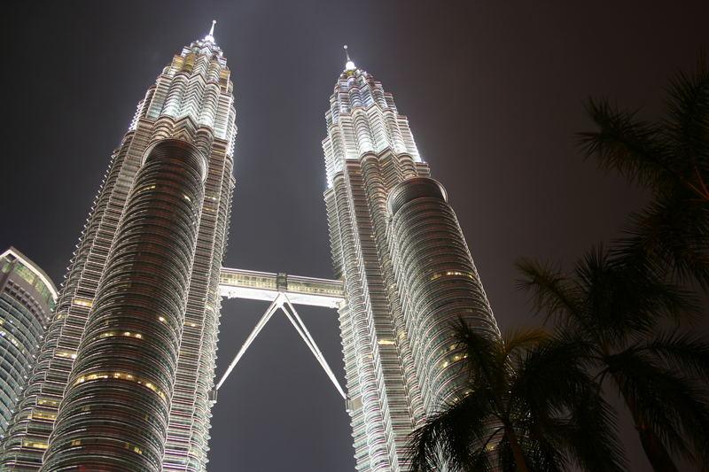 Petronas Towers by night...