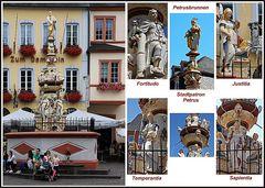 Petrusbrunnen im südlichen Bereich des Hauptmarkts von Trier