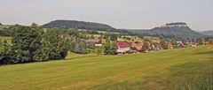 Pfaffendorf, der Quirl (Berg) und die Festung Königstein...