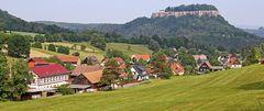 Pfaffendorf mit der Festung Königstein ist für mich in allen Jahreszeiten...