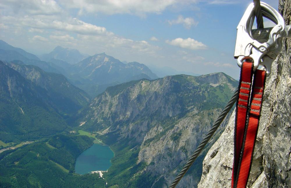 Klettersteig Leopoldsteinersee : Pfaffenstein klettersteig foto & bild sport berg und klettersport