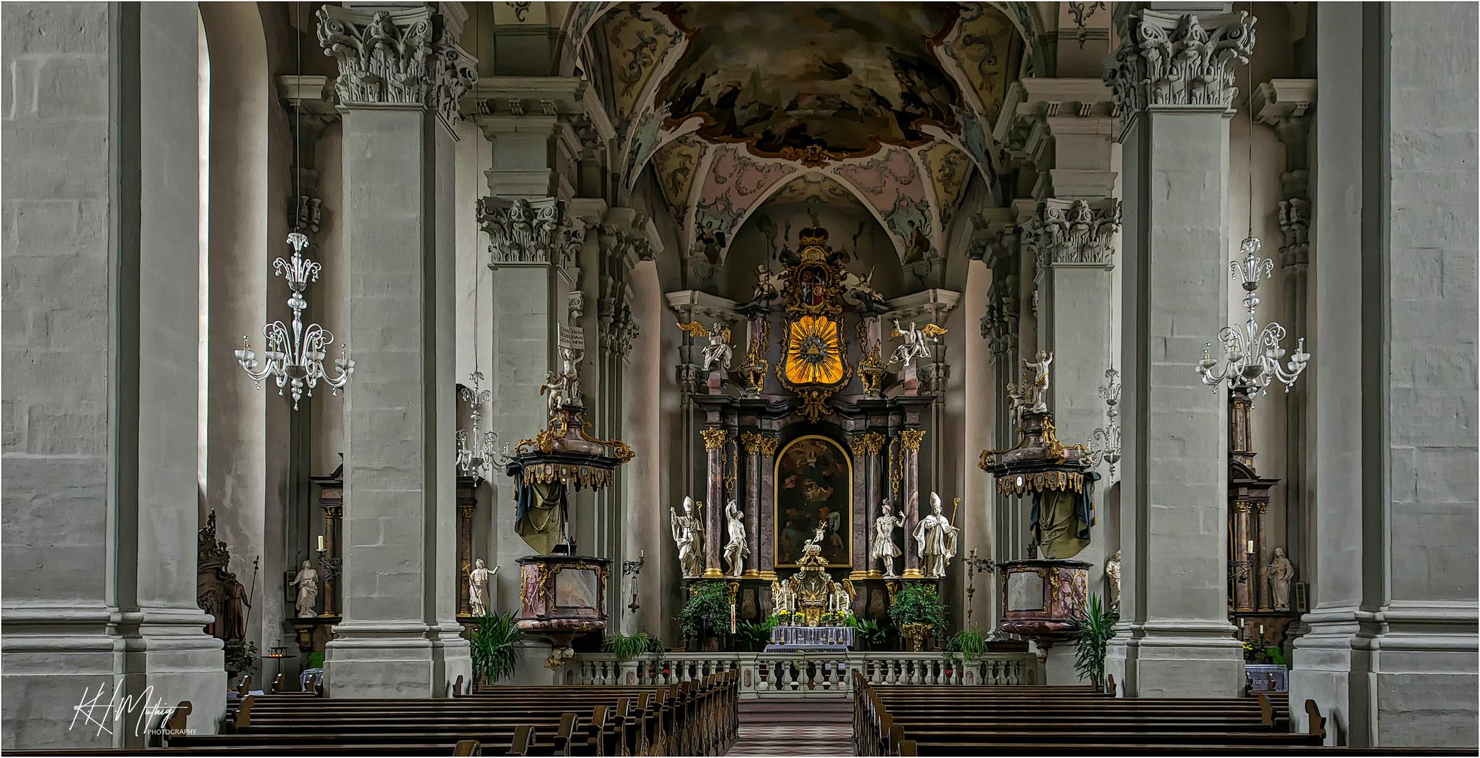 """Pfarrkirche St. Gangolf - Amorbach """" Gott zu Gefallen...."""""""