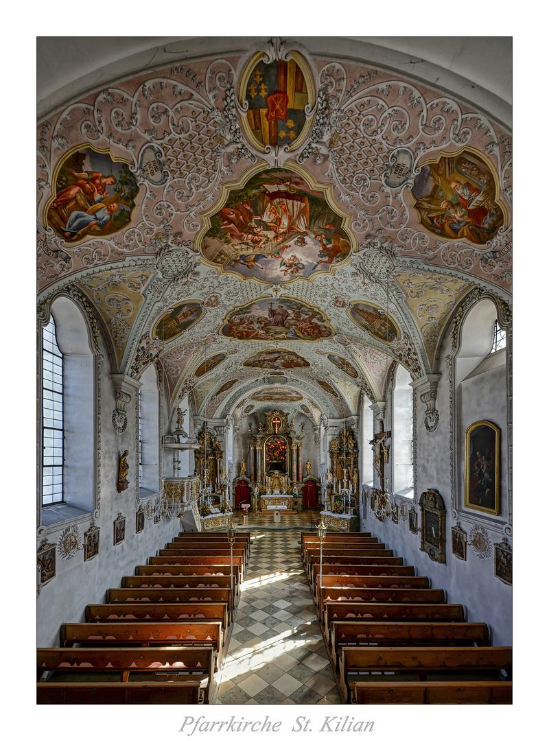 """Pfarrkirche St. Kilian (Bad Heilbrunn) """" Gott zu Gefallen... """""""