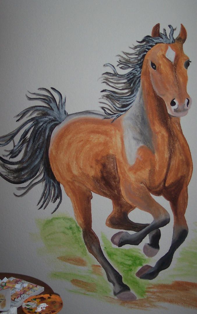 Pferd an der Kinderzimmerwand Foto & Bild | kunstfotografie & kultur ...