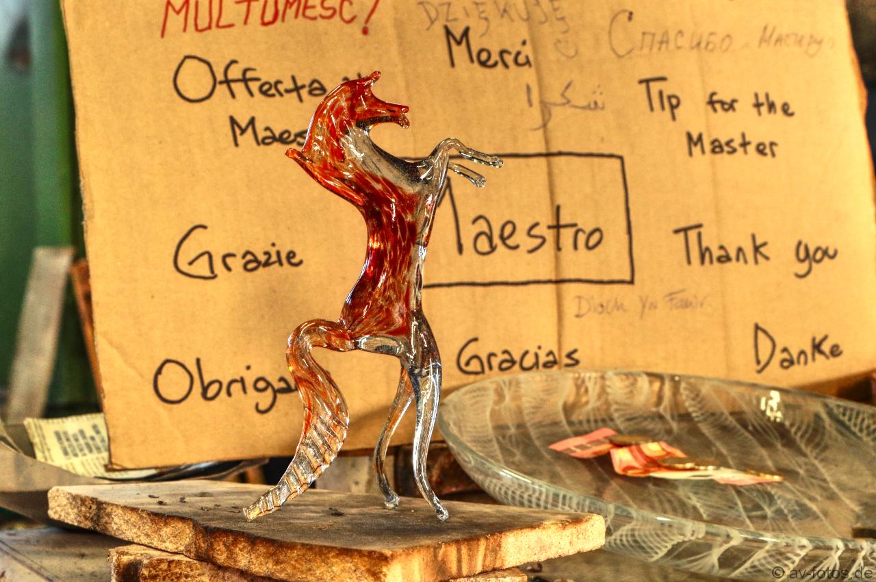 Pferd aus Murano Glas