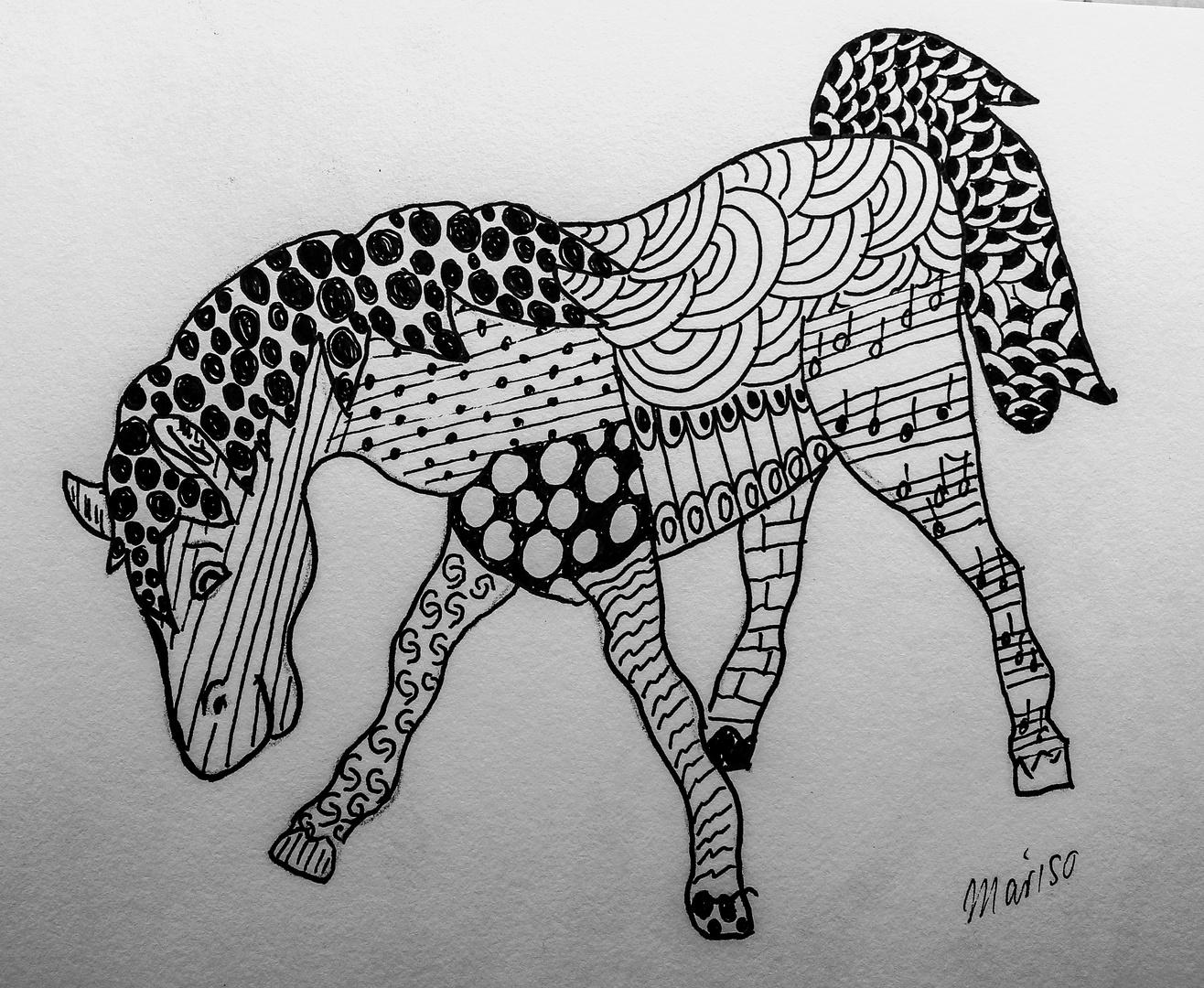Pferd grasend