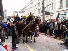Pferde bei der Fasnacht in Basel | 1