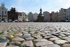 Pflaster auf dem Marktplatz von Wismar
