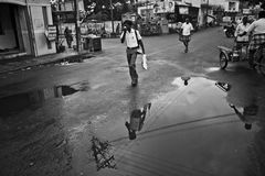 Pfütze in Indien