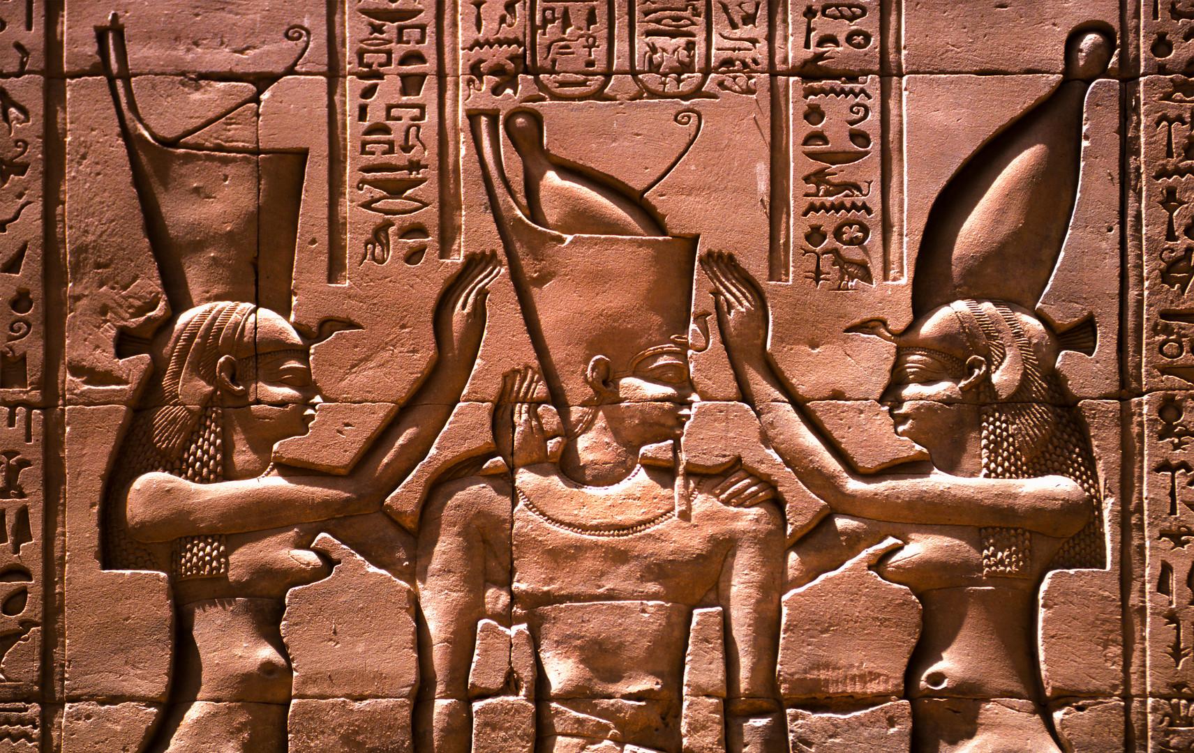 Pharao im Edfu-Tempel in Ägypten
