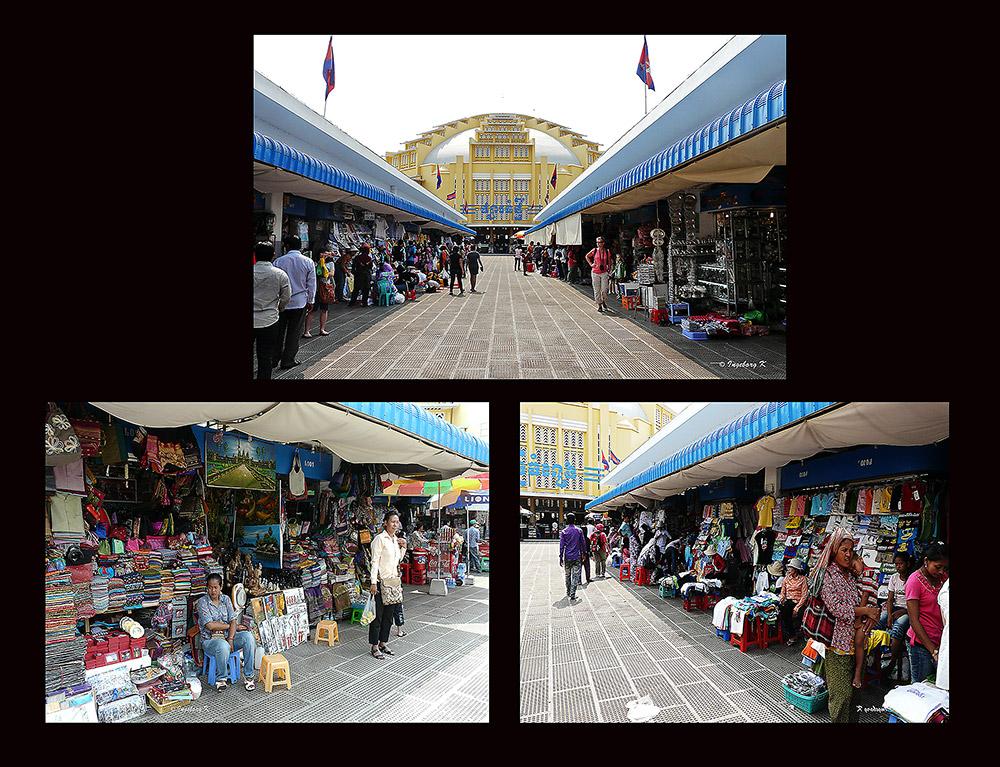Phnom Penh - Der Zentralmarkt - renoviert 2009