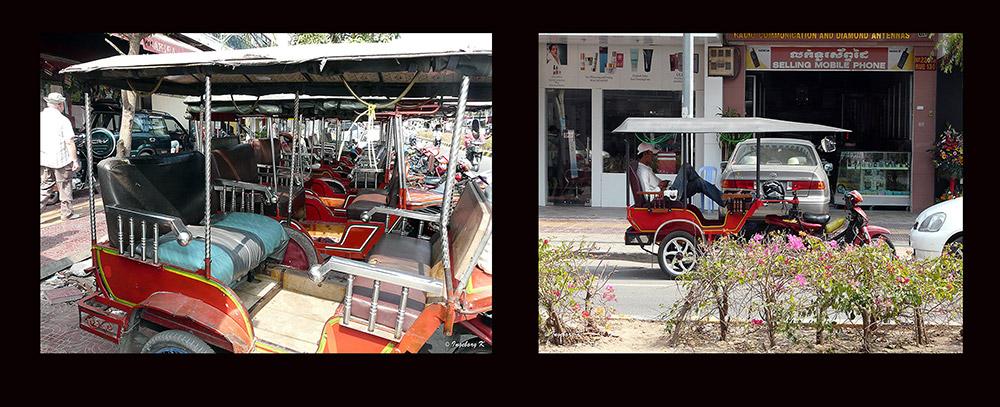 Phnom Penh - umweltfreundliche Fahrzeuge
