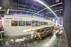 photokina 2018 - Aufbau der fotocommunity Ausstellung in Halle 2.2
