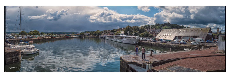 Photoshooting im Hafen von Honfleur