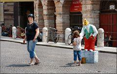 Piazza Bra a Verona.