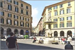 Piazza Colombo in Genua...
