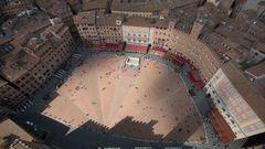 Piazza del Campo vom Turm des Palazzo Pubblico