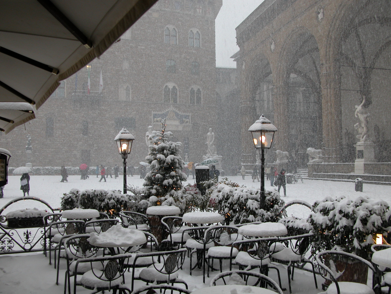 piazza della signoria in bianco