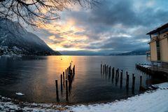 Piazza Lago, sole e neve