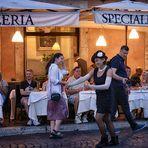 Piazza Navona - Lady in Black -