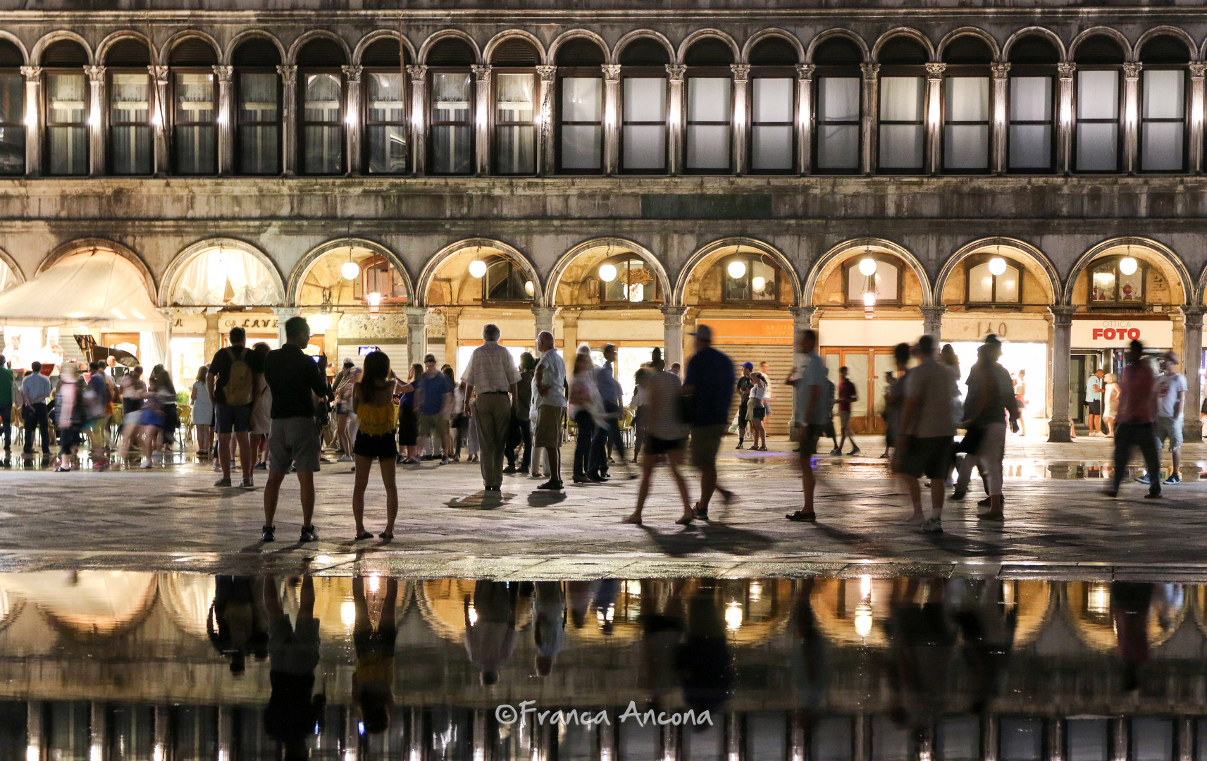 Piazza S. Marco in the evening