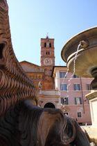 Piazza santa maria in Trastevere, Rom